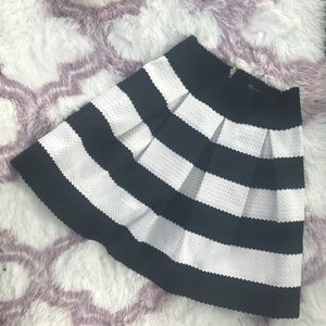 Honey Punch Skirts - Honey Punch striped color block pleated skirt, s.M